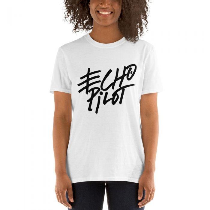 girl wearing an echo pilot shirt